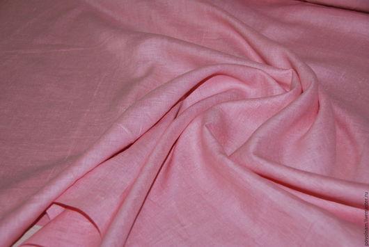 """Шитье ручной работы. Ярмарка Мастеров - ручная работа. Купить Лён 100% """"Розовый фламинго"""" умягчённый. Handmade. Розовый"""