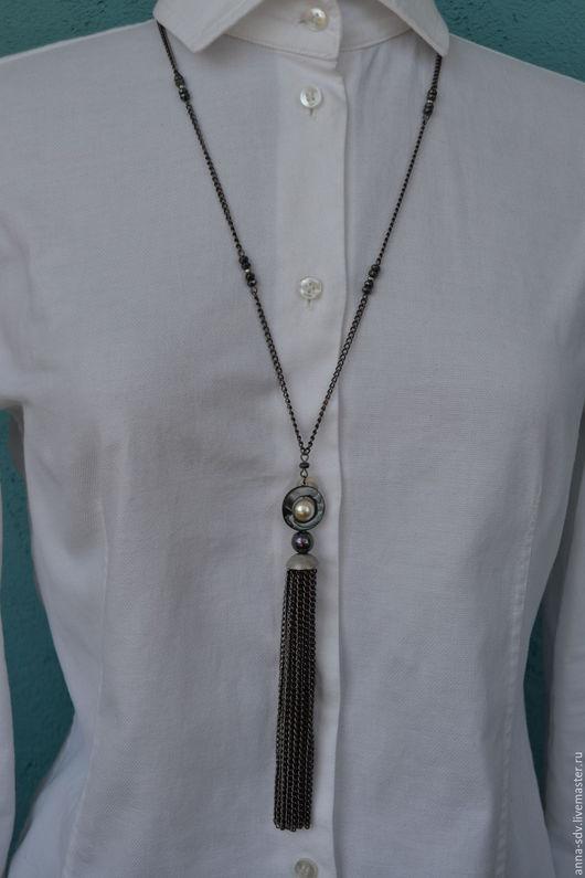 """Колье, бусы ручной работы. Ярмарка Мастеров - ручная работа. Купить Ожерелье """"Комета"""". Handmade. Designer jewelry, авторские украшения"""