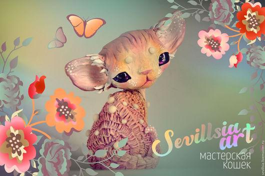 Customizes Gifts handmade. Livemaster - handmade. Buy Blurberry, fantasy Devon Rex.Beige, sweet, fantasy, gentle