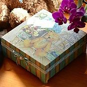"""Подарки к праздникам ручной работы. Ярмарка Мастеров - ручная работа Шкатулка """"В детской"""". Handmade."""