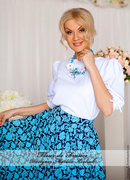 Купить женскую белую нарядную блузку