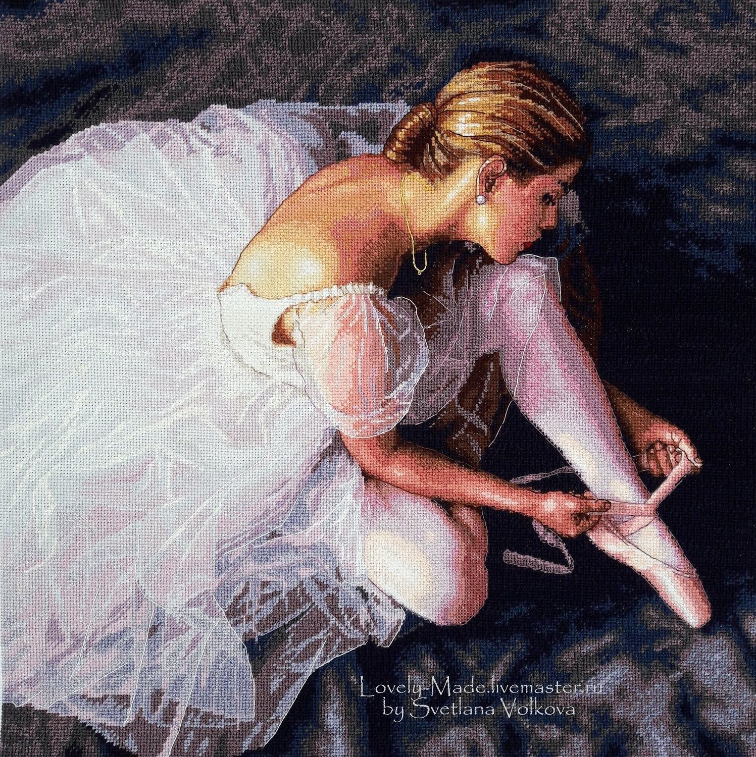A beautiful dancer. Hand embroidery. Dimensions 35181 Ballerina Beauty, Pictures, Chelyabinsk,  Фото №1