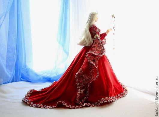 Коллекционные куклы ручной работы. Ярмарка Мастеров - ручная работа. Купить Кукла Волшебница. Handmade. Ярко-красный