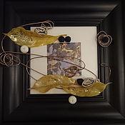 """Картины и панно ручной работы. Ярмарка Мастеров - ручная работа """"Листья желтые, листья золотые"""". Handmade."""