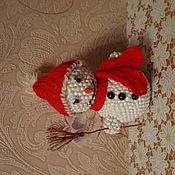 Русский стиль ручной работы. Ярмарка Мастеров - ручная работа Веселый снеговик. Handmade.