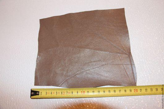 Шитье ручной работы. Ярмарка Мастеров - ручная работа. Купить кожа в кусках (серо-коричневая). Handmade. Коричневый, кожа