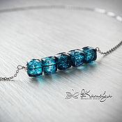 Украшения handmade. Livemaster - original item Silver necklace with mystic quartz
