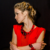 Украшения handmade. Livemaster - original item Ornament Yin Yang (red).. Handmade.