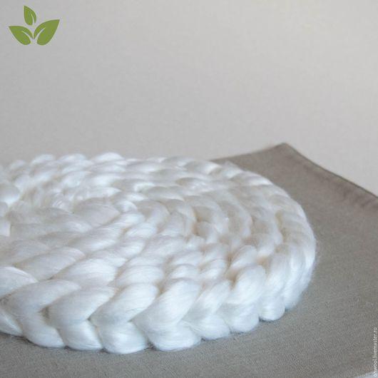 Валяние ручной работы. Ярмарка Мастеров - ручная работа. Купить Волокна бамбука, белый, 10 гр. Handmade. Бамбук, прядение
