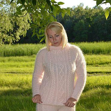 Одежда ручной работы. Ярмарка Мастеров - ручная работа Пуховые модный шорты С Косами,розовые. Handmade.
