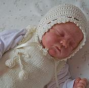 Работы для детей, ручной работы. Ярмарка Мастеров - ручная работа Комбинезон для новорожденного. Комбинезон вязанный. Handmade.