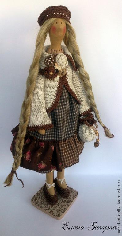 Куклы Тильды ручной работы. Ярмарка Мастеров - ручная работа. Купить Мисс Кофеюшка -Кукла в стиле Тильда. Handmade. Коричневый