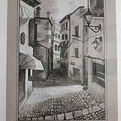 Картины ручной работы. Ярмарка Мастеров - ручная работа Старый город. Handmade.