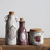"""Для дома и интерьера ручной работы. Ярмарка Мастеров - ручная работа """"ANTIQUE """"флакончики керамические. Handmade."""