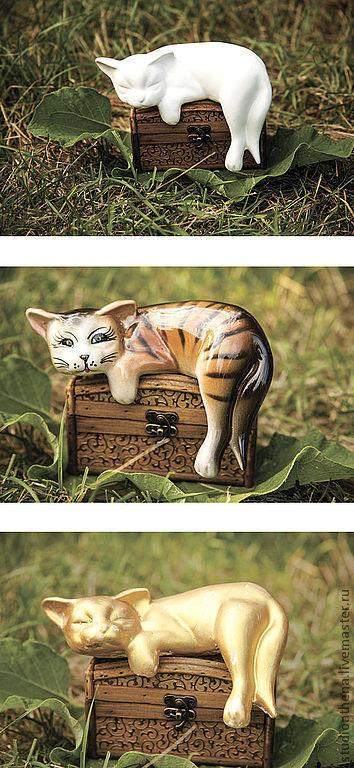 кошки гипсовая для оформления интерьера