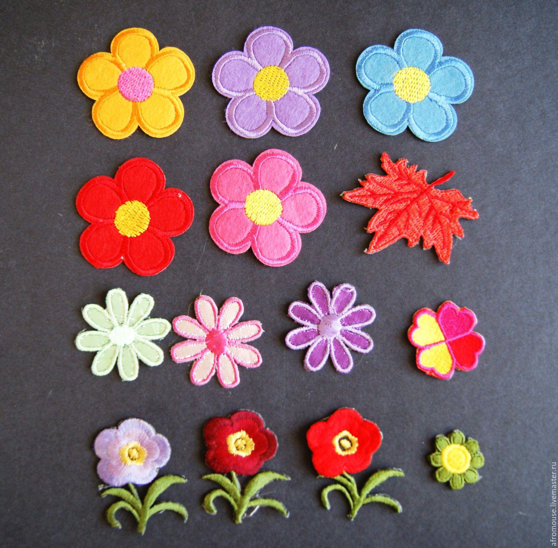 Термоаппликация вышитая цветы купить служба доставки цветов по ростову