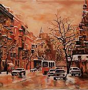 Картины и панно ручной работы. Ярмарка Мастеров - ручная работа город весной. Handmade.