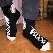 """Обувь ручной работы. Ярмарка Мастеров - ручная работа Носки мужские """"под Кеды"""". Handmade."""