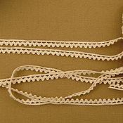 Материалы для творчества ручной работы. Ярмарка Мастеров - ручная работа К-477 Кружево хлопковое, нетбеленное, ширина 6мм. Handmade.