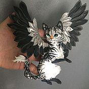 """Куклы и игрушки ручной работы. Ярмарка Мастеров - ручная работа фигурка """"крылатая кошечка"""" ( кот, кошка). Handmade."""