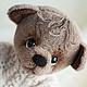 Мишки Тедди ручной работы. Ярмарка Мастеров - ручная работа. Купить Боренька (40 см). Handmade. Бежевый, свитер с косами