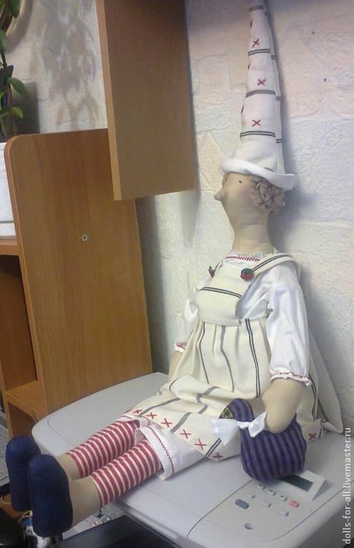Кукла Тильда Добрая Ведьмочка, которая защитит Ваш дом от злых ведьм:)