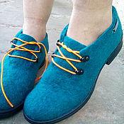 Обувь ручной работы. Ярмарка Мастеров - ручная работа Ботиночки шерстяные Оксворд. Handmade.