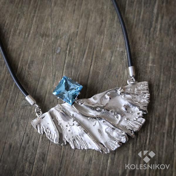 Silver flight necklace, Necklace, Yaroslavl,  Фото №1