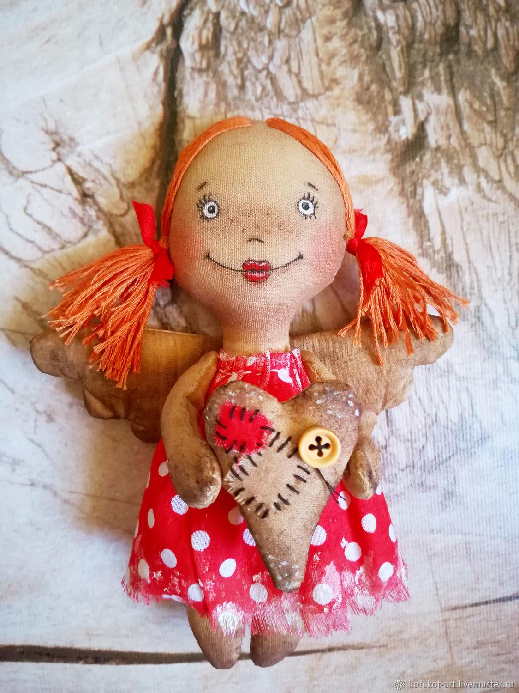 Рыжая девочка-ангел, Мягкие игрушки, Белореченск,  Фото №1
