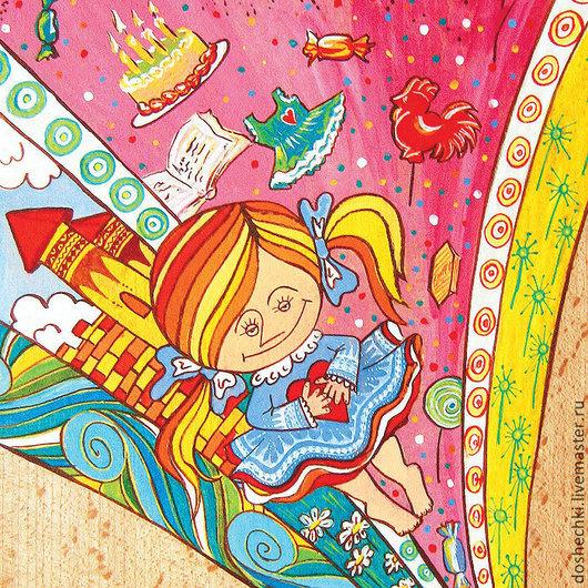 Открытки на все случаи жизни ручной работы. Ярмарка Мастеров - ручная работа. Купить Открытка Детские мечты. Handmade. Разноцветный, мечты