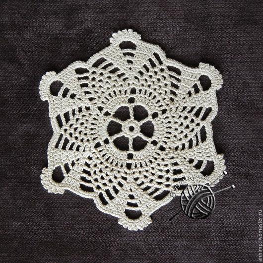 Текстиль, ковры ручной работы. Ярмарка Мастеров - ручная работа. Купить Салфетка ажурная декоративная диаметр 13,5 см. Handmade.