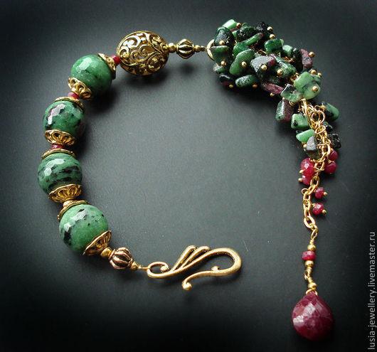"""Браслеты ручной работы. Ярмарка Мастеров - ручная работа. Купить браслет """" ЦВЕТЫ..."""". Handmade. Зеленый, стильный браслет"""