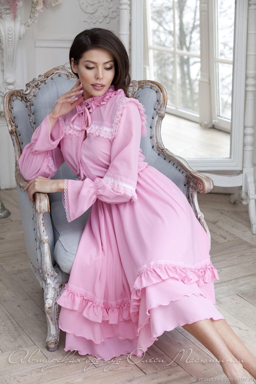 d8a97dfd0e8 Платья ручной работы. Ярмарка Мастеров - ручная работа. Купить Платье   Розовая черемуха  ...