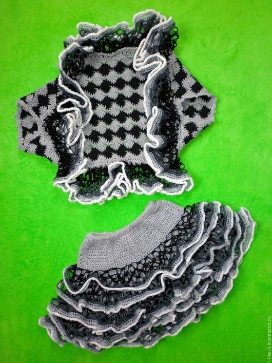"""Костюмы ручной работы. Ярмарка Мастеров - ручная работа. Купить Костюм """"Мышка"""".. Handmade. Темно-серый, вязаный, юбка для девочки"""