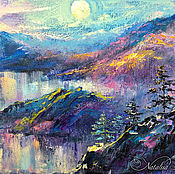 Картины и панно handmade. Livemaster - original item Sacred Baikal - exquisite oil painting on canvas. Handmade.