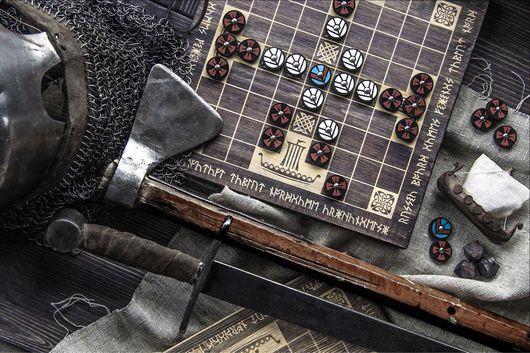 Настольные игры ручной работы. Ярмарка Мастеров - ручная работа. Купить Хнефатафл / тавлеи 9 на 9 клеток. Handmade.