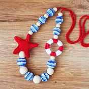 """Одежда ручной работы. Ярмарка Мастеров - ручная работа Слингобусы """"Морские"""" c морской звездой, слингобусы в морском стиле. Handmade."""