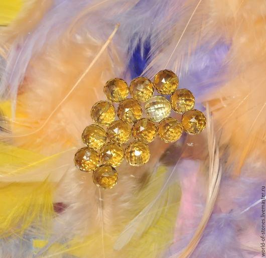 Для украшений ручной работы. Ярмарка Мастеров - ручная работа. Купить Цитрин шар, болотный 8. Handmade. Разноцветный, цитрин