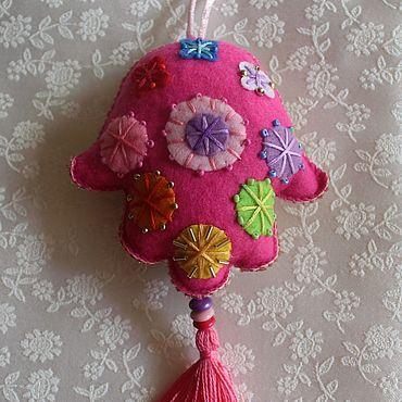 Подарки к праздникам handmade. Livemaster - original item Decoration: Hamsa pendant, Fatima hand,10h25 cm. Handmade.