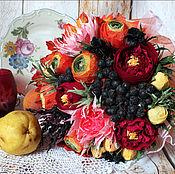 Цветы и флористика ручной работы. Ярмарка Мастеров - ручная работа Букет в осенних тонах. Handmade.