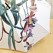Аксессуары handmade. Livemaster - original item Cane umbrella with hand painted