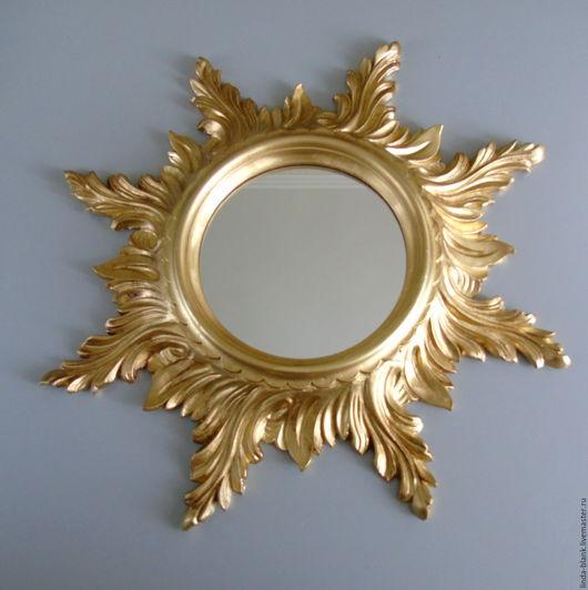 """Винтажные предметы интерьера. Ярмарка Мастеров - ручная работа. Купить Зеркало настенное """"cолнце""""настенное ассортимент. Handmade. Золотой, зеркало настенное"""