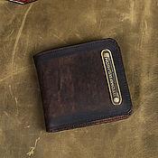 Сумки и аксессуары handmade. Livemaster - original item Man leather wallet `Atomfashion 1.0`. Handmade.