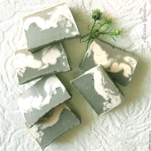 Мыло ручной работы. Ярмарка Мастеров - ручная работа. Купить Натуральное косметическое мыло с голубой глиной «Секрет амазонки». Handmade.