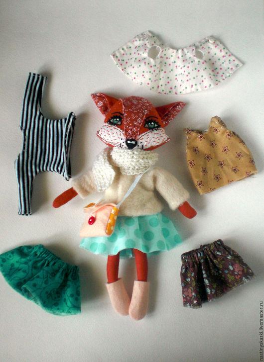 Развивающие игрушки ручной работы. Ярмарка Мастеров - ручная работа. Купить Лисичка, игровая текстильная кукла с набором одежды, НА ЗАКАЗ. Handmade.