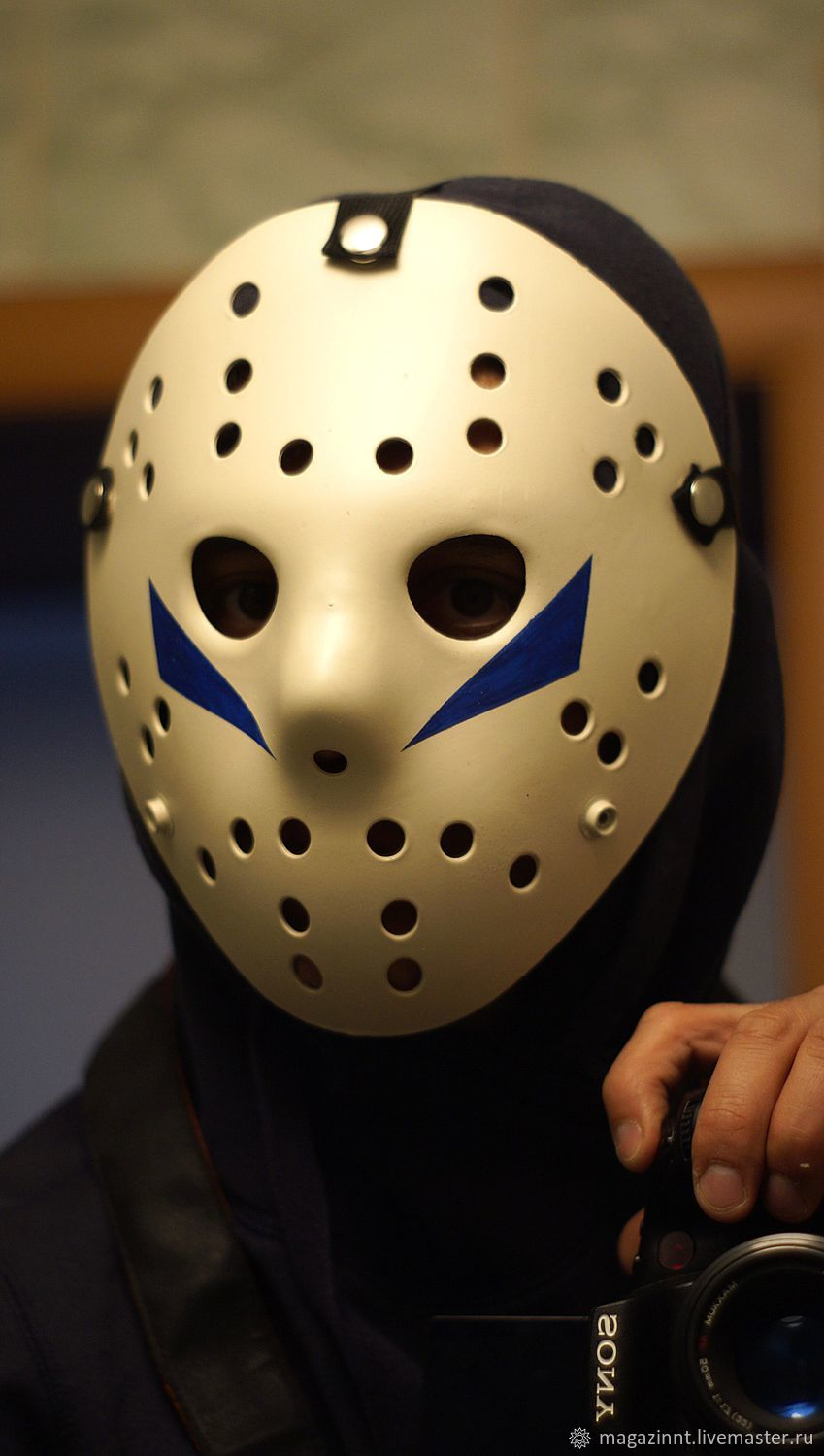 Replica Friday the 13th V: A New Begining (1985) Jason Hockey Mask, Mask for role playing, Moscow,  Фото №1