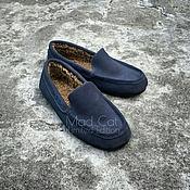 Обувь ручной работы handmade. Livemaster - original item Male moccasins made of suede and sheepskin. Handmade.