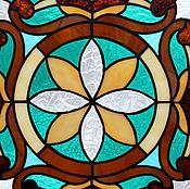 Для дома и интерьера handmade. Livemaster - original item Stained glass window. stained glass Tiffany. The stained glass in the Windows. Stained glass. Handmade.