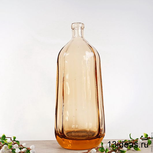Винтажная посуда. Ярмарка Мастеров - ручная работа. Купить Дореволюционная бутылка. Handmade. Бледно-розовый, бутылка в подарок, марганцевое стекло