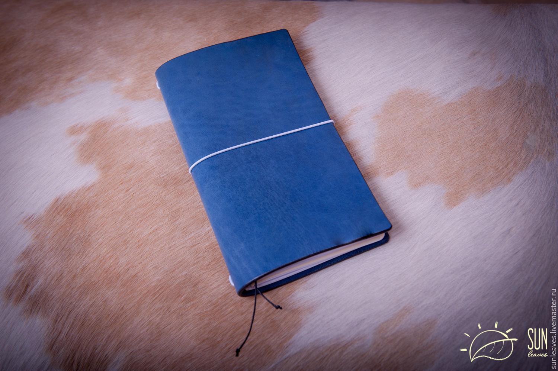 """Записные книжки ручной работы. Ярмарка Мастеров - ручная работа. Купить Записная книжка путешественника """"Deep Blue Ocean"""" (Голубой океан). Handmade."""